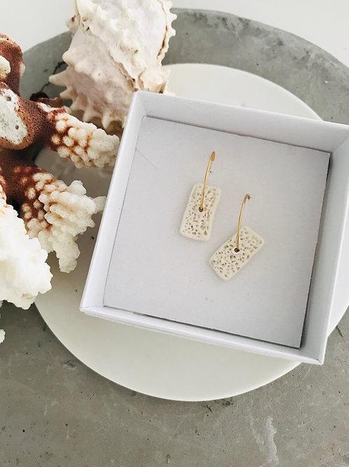 Coral inspired porcelain earrings