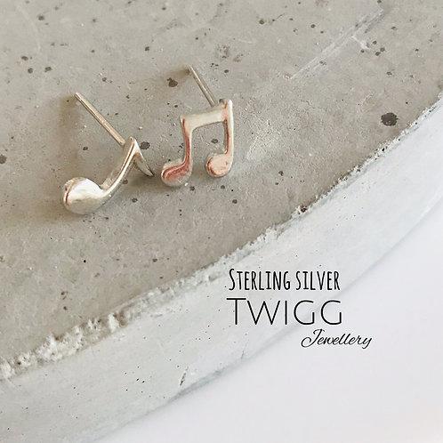 Music stud earrings
