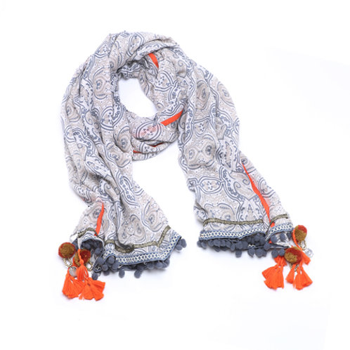 Page blue scarf bs