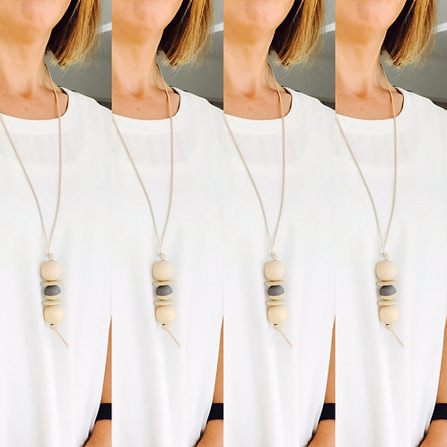 Nordic Grey Stack Necklace