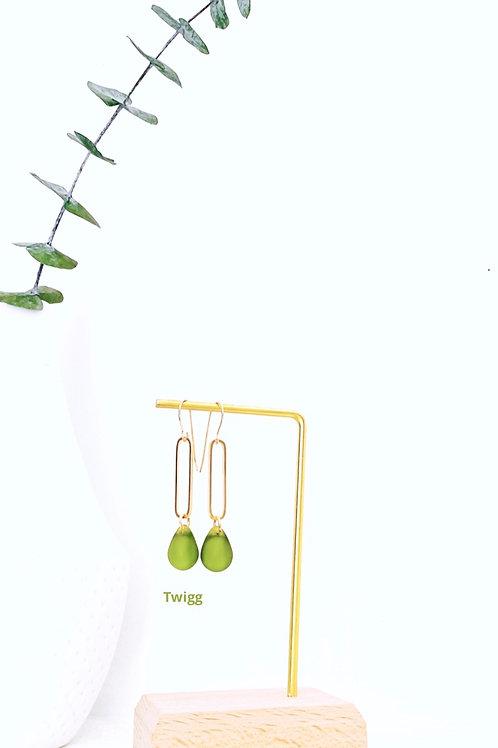 water droplet sea glass earrings