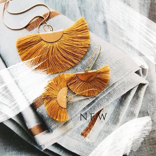 Kindel silk tassel necklace