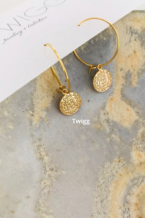 Hoop coin earrings