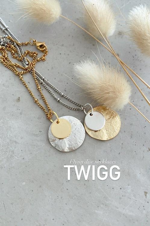 Flynn disc necklace
