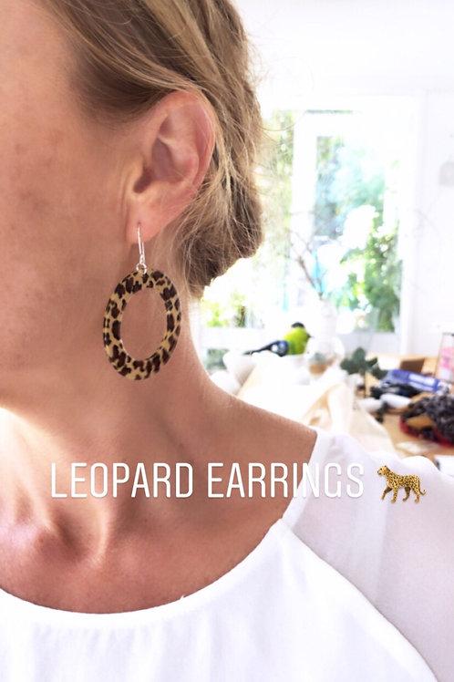 Animal print earrings