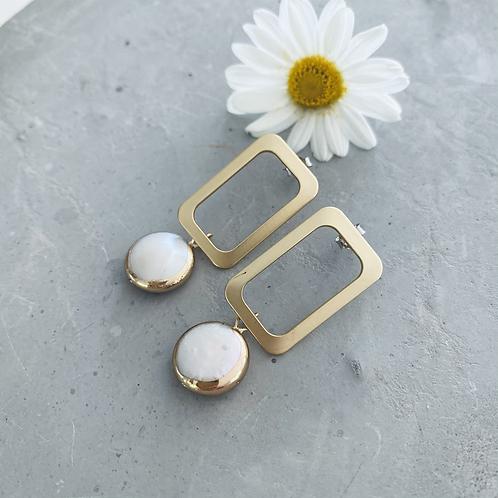 Willa rectangle baroque earrings