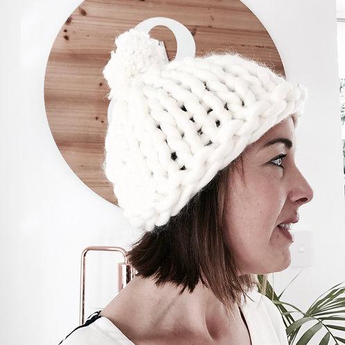 .Bump Hat - Adult with Pom POm