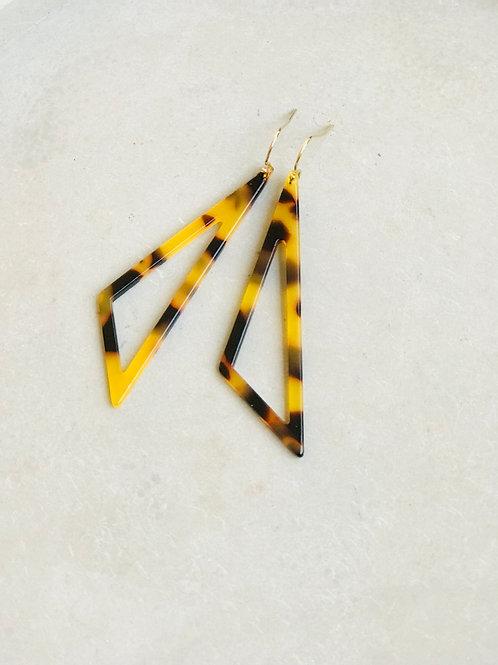 Tri tortoiseshell earrings