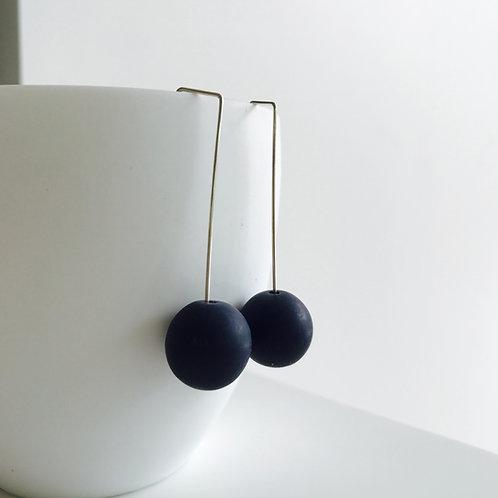 Designer Resin Ball Drop Earrings