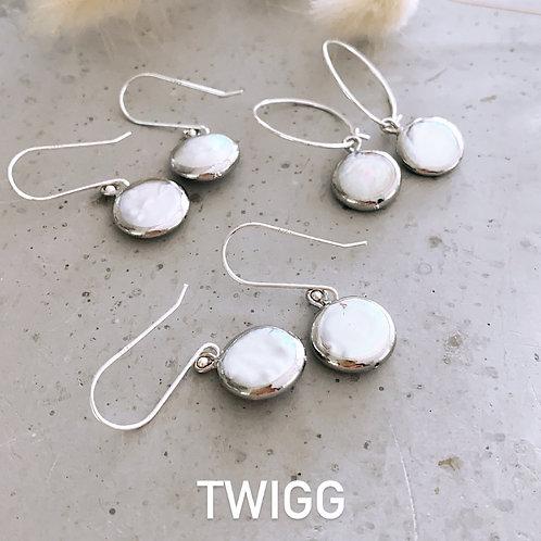 Baroque silver pearls