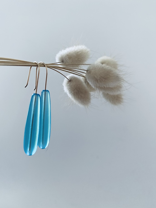 Handcrafted Tubular seaglass drop earrings