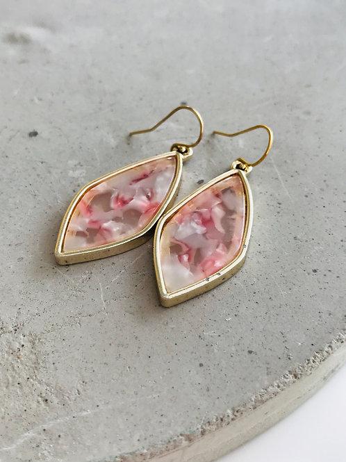 Framed champagne drop earrings
