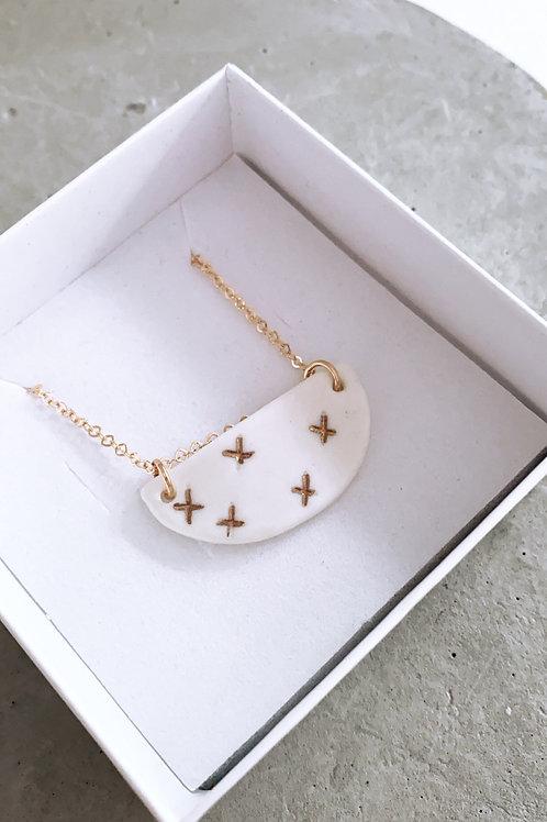 X porcelain necklace