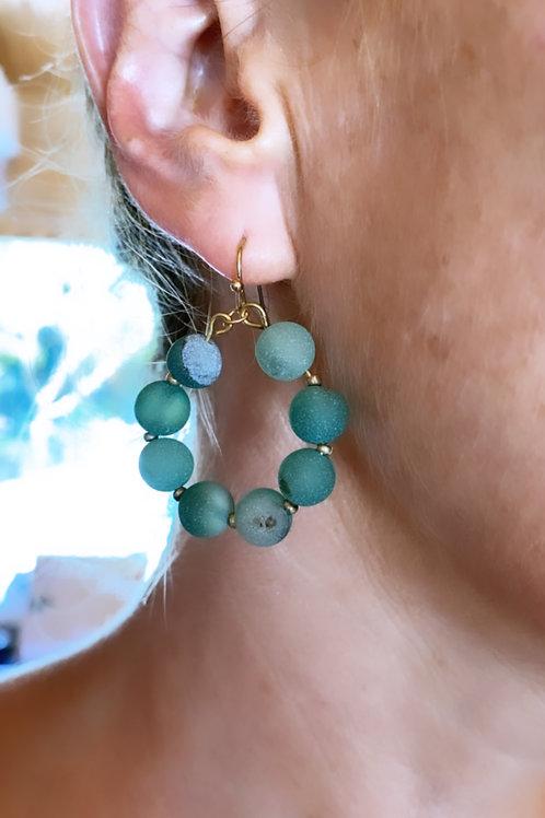Paros stone circ earrings