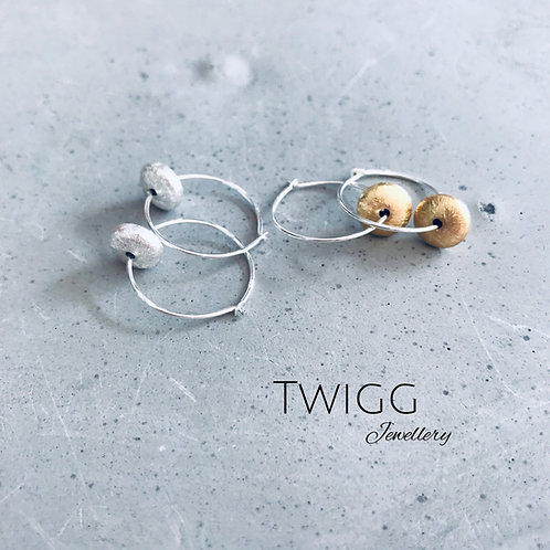 Sterling silver Saucer earrings