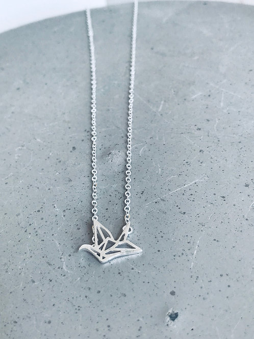 Geometric crane necklace 925 Sterling Silver