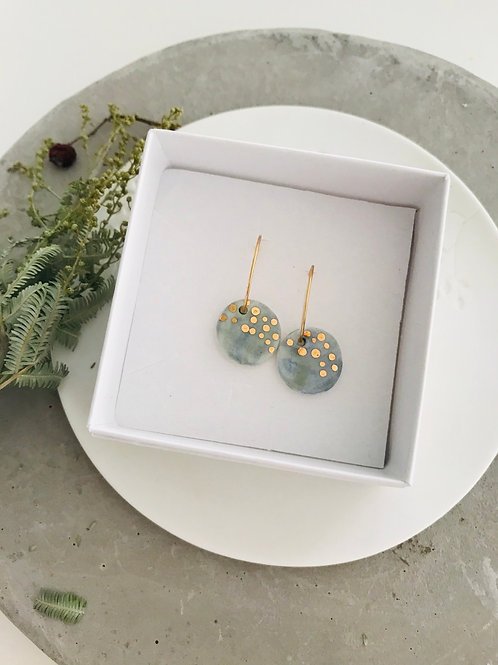 Water colour freckle Porcelain Earrings