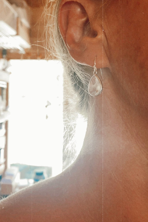 Audrey clear  drop earrings