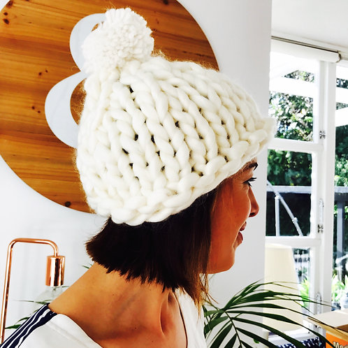 Hand Knit BUMP Hat - adult