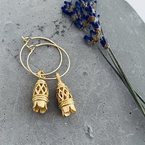 OTTOMAN filigree cone earrings