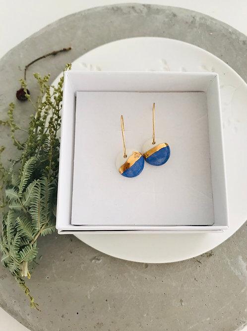 Costal porcelain earrings
