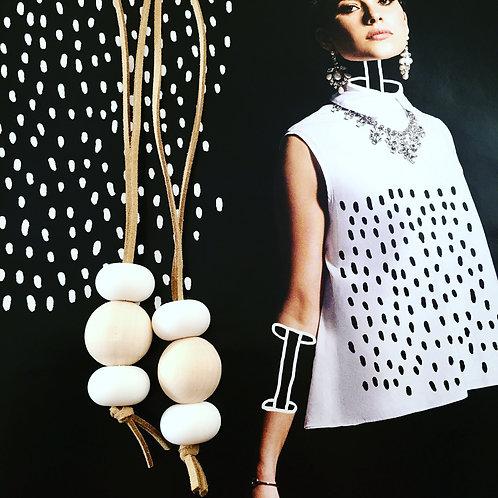 Scandal Wood stack Necklace