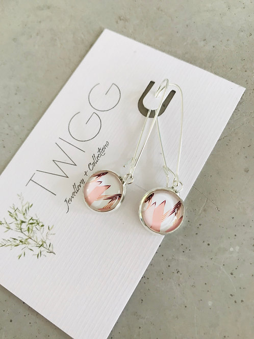 Pink peak earrings