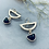 Thumbnail: PIPPA crescent gem droplet earrings