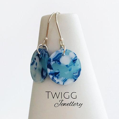 Tort Icelandic blue earrings