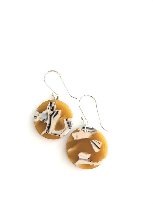 Tortoiseshell Disc Earrings