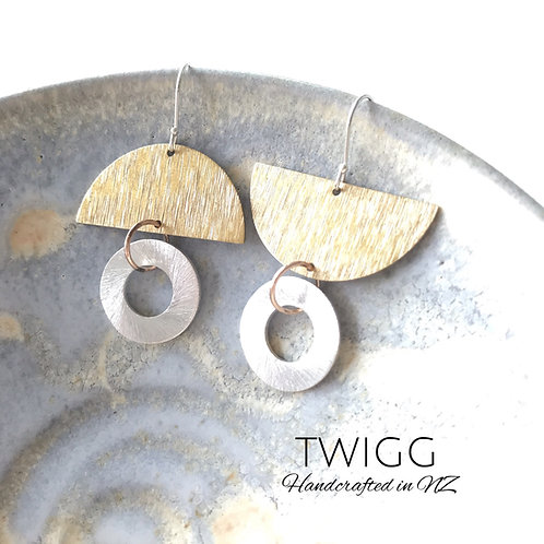 Topsey Turvey double up earrings