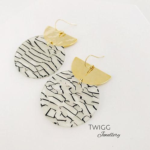 Malo crescent earrings