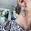 Thumbnail: STELLA Scribble drop earrings - black
