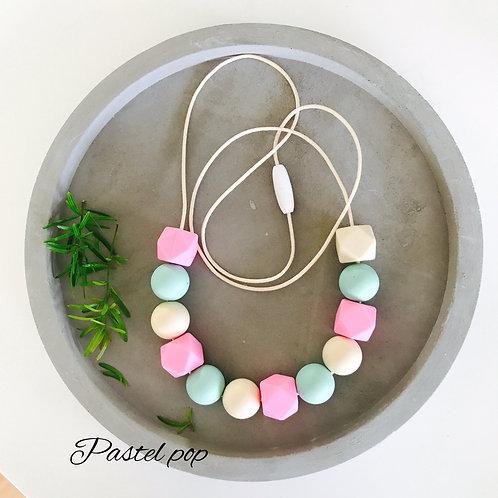 Pastel Pop  Silicone Necklace