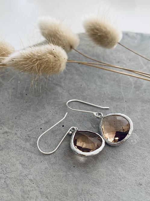 Audrey drop earrings - iced tea