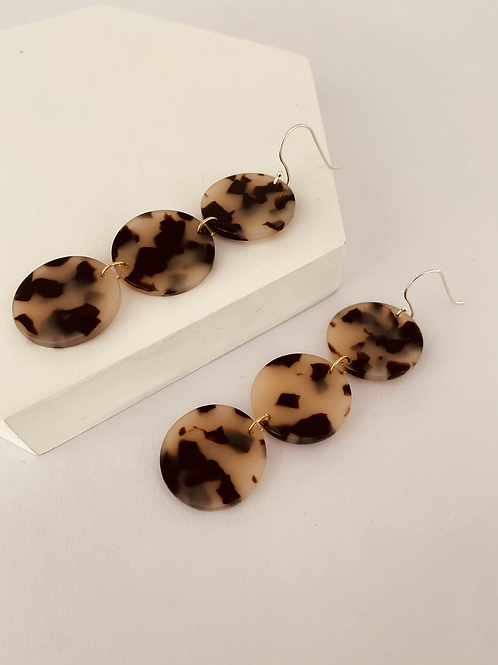 Tiered tort earrings