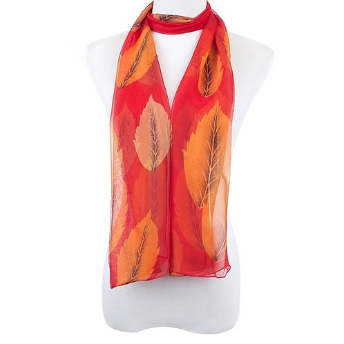 On fire scarf