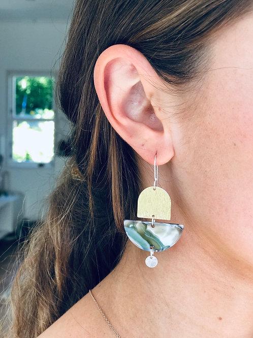 FOG doubled drop earrings