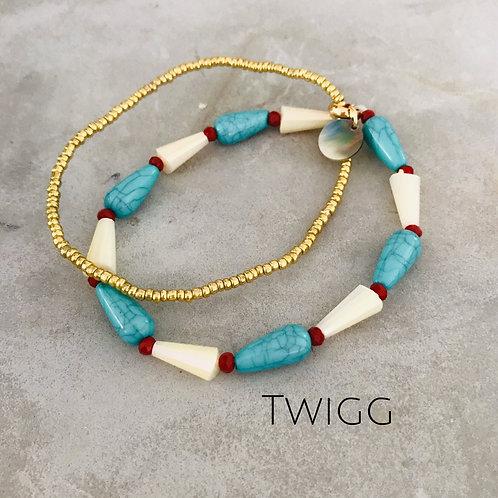 Layered turquoise bracelet