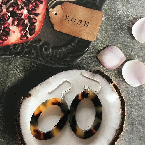 torti tortoise Shell earrings - oval