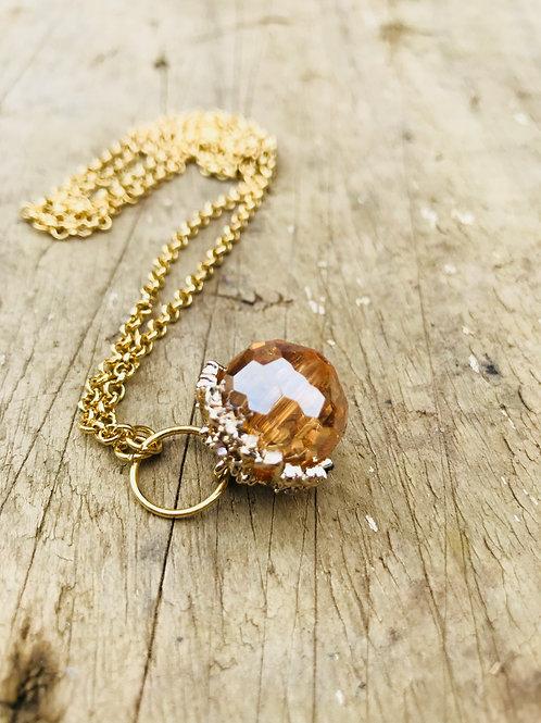 Glass glitz Acorn pendant