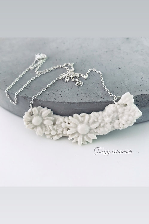 Petal ceramic necklace