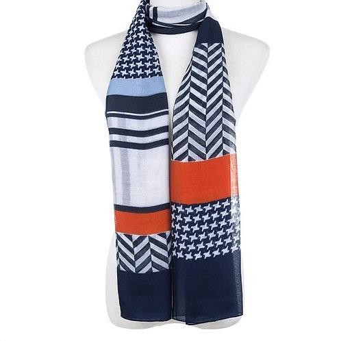 Vienna colour block scarf