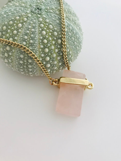 Rose quartz blocker necklace