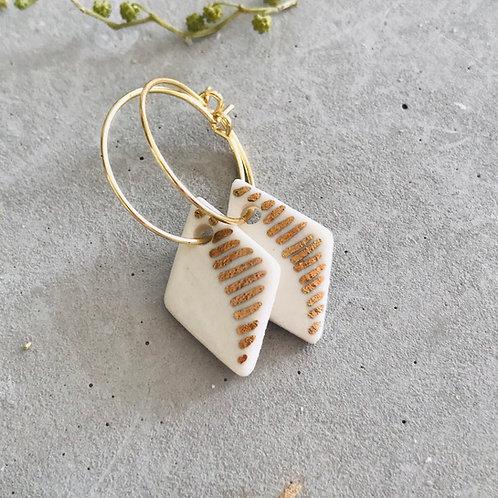 Rail roaded earrings