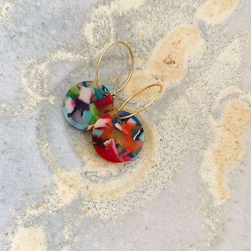Be bold disc earrings