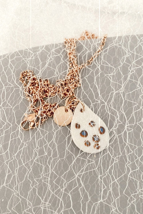 Spotted tear pendant necklace