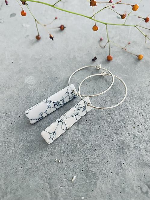Divine marble earrings