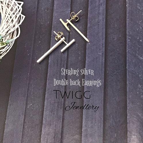 Double Bar earrings -sterling silver