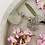 Thumbnail: Silver glass ORB dandelion necklace